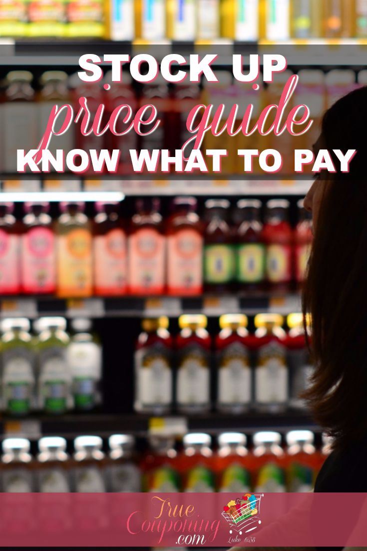 Stock Up Price Guide ~ Know What To Pay!