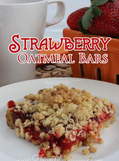 Strawberry Oatmeal Bars are Perfect for Lunches & Snacks