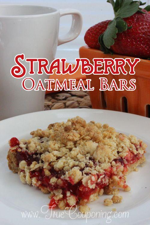 Strawberry Oatmeal Bars Recipe