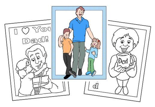 FREE Father's Day Coloring Pages for Kids!