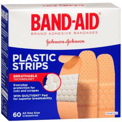 Band-Aid Plastic Strips 60 ct