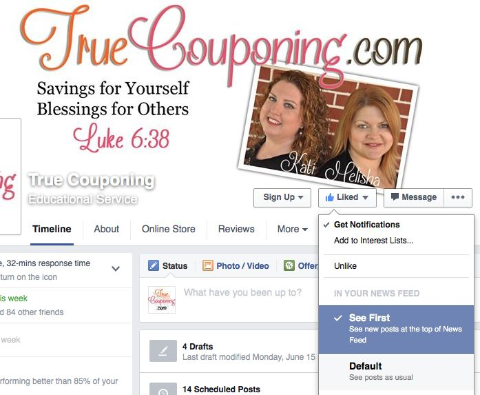 Facebook True Couponing