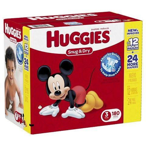Huggies Giant Pack Diapers 180 ct