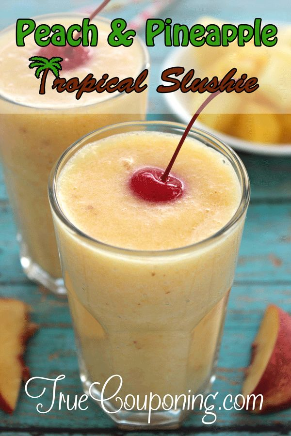 Peach-&-Pineapple-Tropical-Slushie
