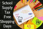School-Supply-Tax-Free-Shopping-Days