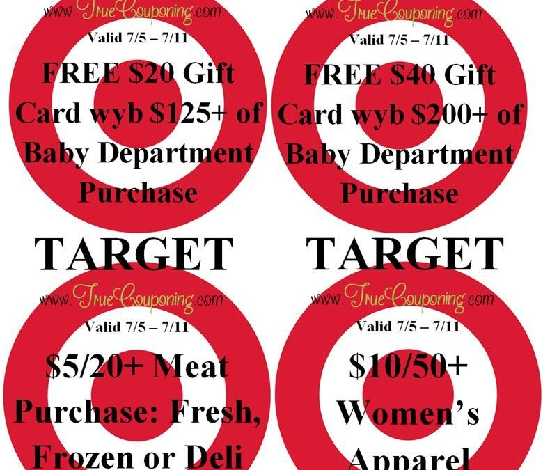 Special Coupons in 7/5 Sunday Newspaper: (4) Target Qs ~ Including $5/$20+ Meat Purchase!