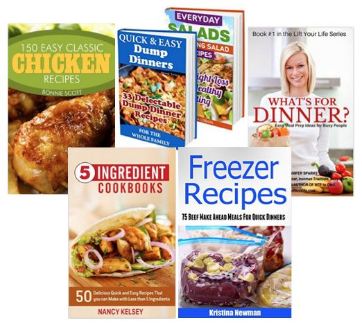 5 FREE eBooks:  Quick and Easy Recipes