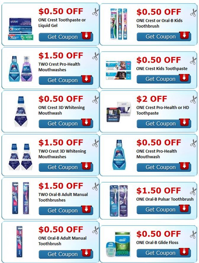 Crest & Oral-B Coupons