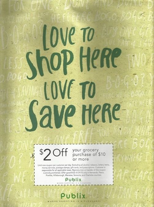 {REMINDER} Saturday is the Last Day to use the Publix $2/$10 from Sunday's 8/23 Newspaper!