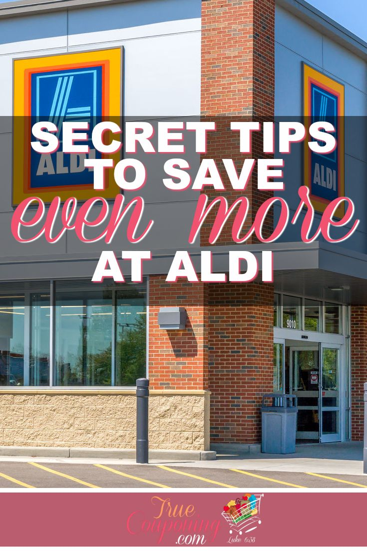 Groceries can be so expensive. Don't miss out on these SECRET ways that you can save even more at Aldi! #truecouponing #aldi #groceries #groceryshopping #savings