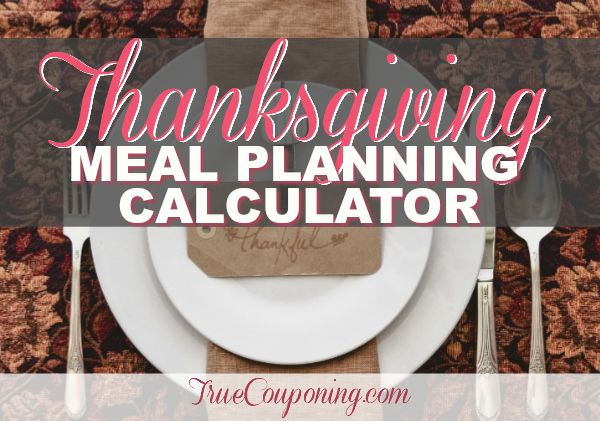 FREE Download: Enter Your Number Of Guests & Auto Calculate How Much Food To Buy For Thanksgiving Dinner!