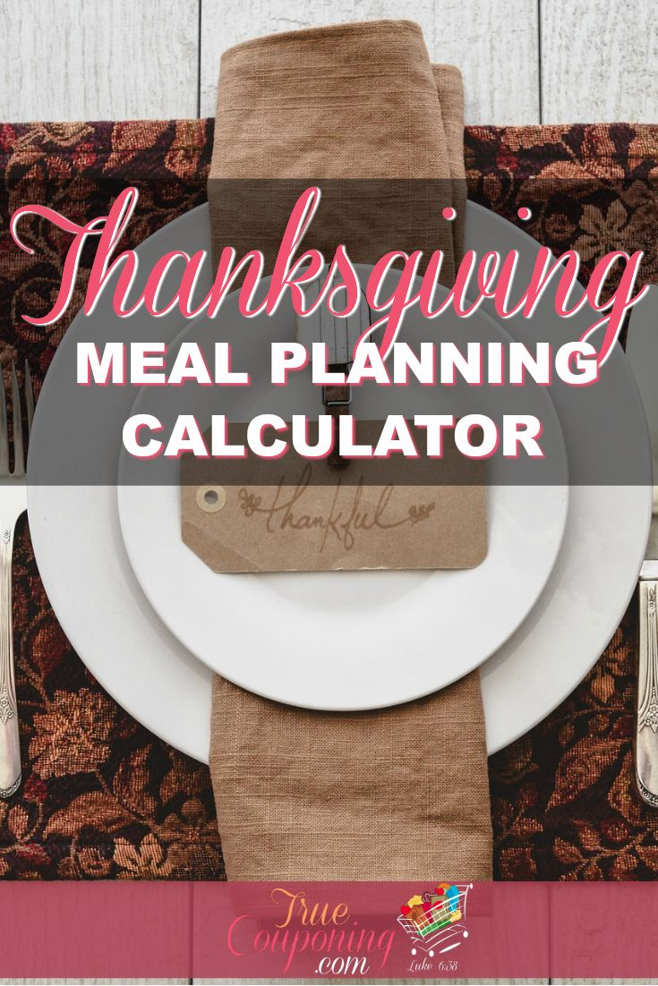 In seconds you can figure out how much food you need to buy for your Thanksgiving Feast with this Thanksgiving Meal Planning Calculator! It will calculate the amount you need to buy for 20 basic Thanksgiving meal items for up to 40 people!
