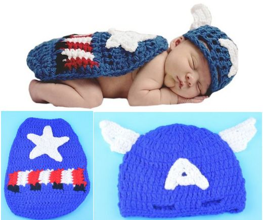 Crochet Captain America Baby Costume just $9.99 Including Shipping!