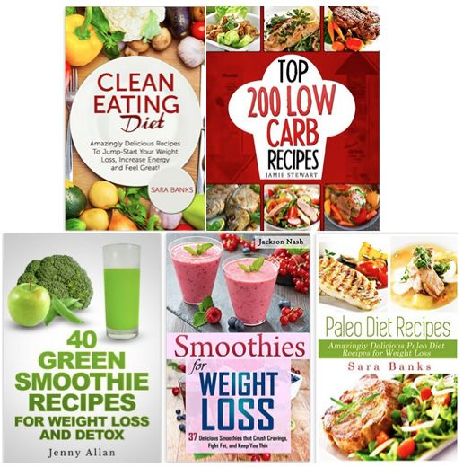 5 FREE eBooks:  Recipes for Dieting