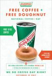 FREE Krispy Kreme Coffee and Doughnut on 9/29
