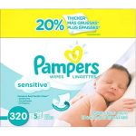 Pampers Sensitive Baby Wipes Refills 320 sheets