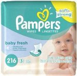 Pampers Wipes Refills 216 ct