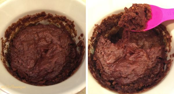 Peanut Butter Chocolate Lava Cake THM done