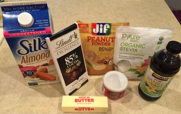 Peanut Butter Chocolate Lava Cake THM ingredients