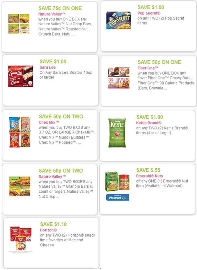 Snack Food Coupons