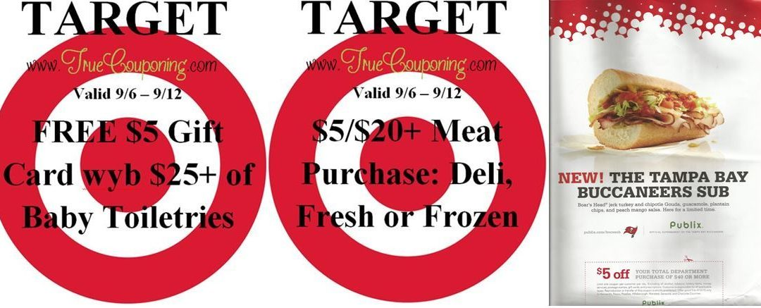 {REMINDER} Saturday is the Last Day to use the Target $5/$20+ Meat Coupon, Gift Card for Baby Toiletries & Publix $5/$40+ Coupon!