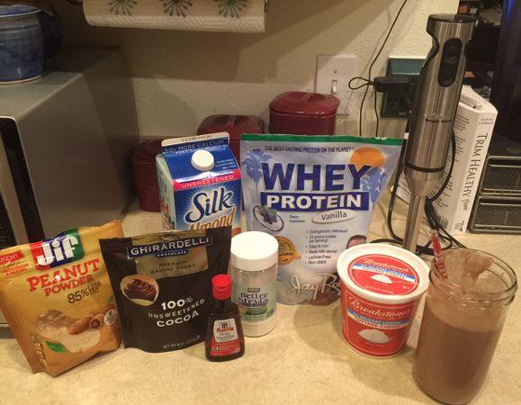 THM Peanut Butter Chocolate Protein Shake