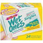 Wet Ones Wipes Singles 24 ct
