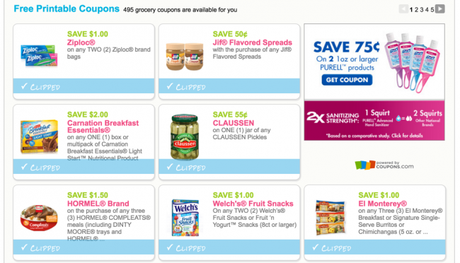 click and print coupons