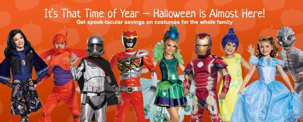 Halloween Costumes ~ Save 15% Sitewide + Buy Any Costume $15+ and Get Disney Frozen Elsa Costume FREE!