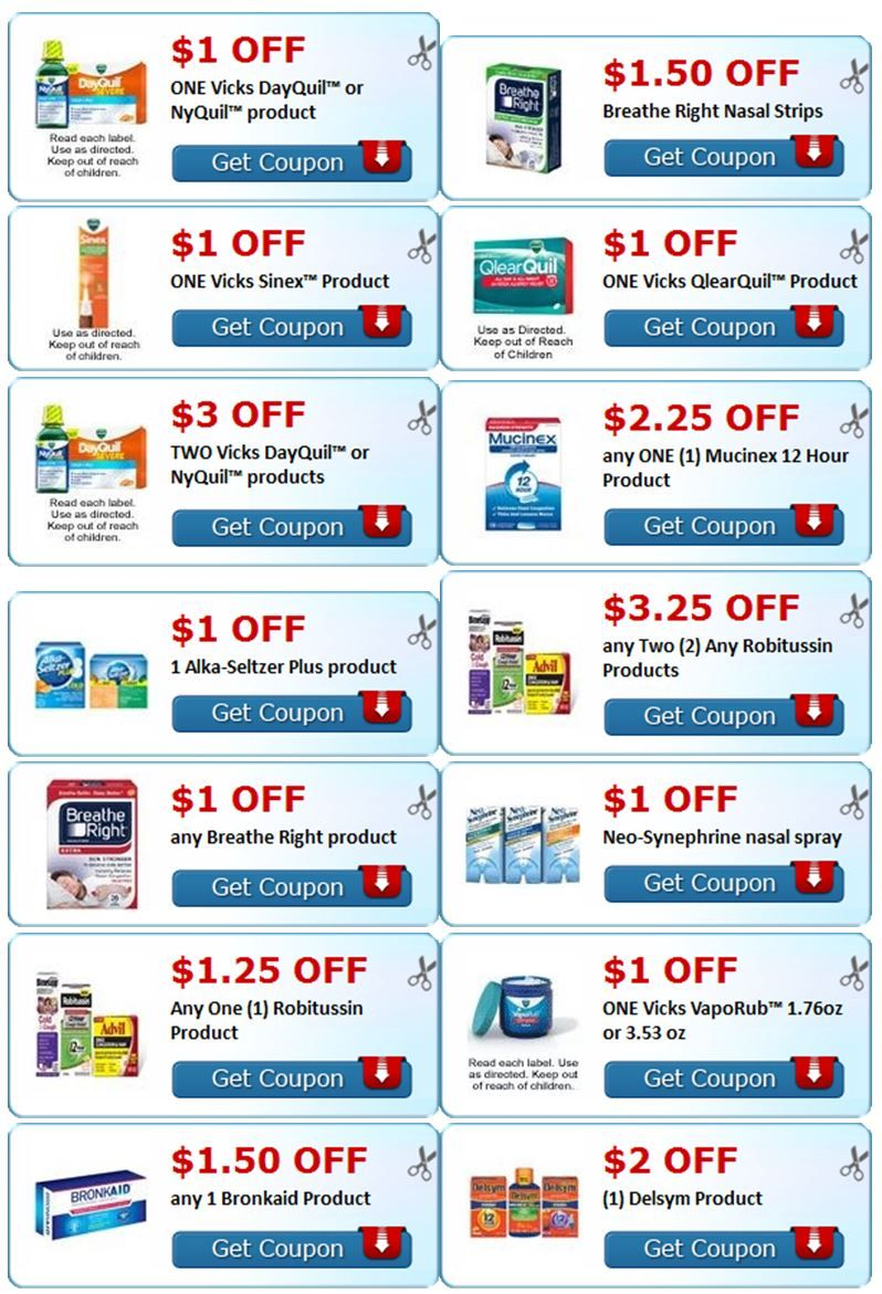 Cough & Cold Coupons