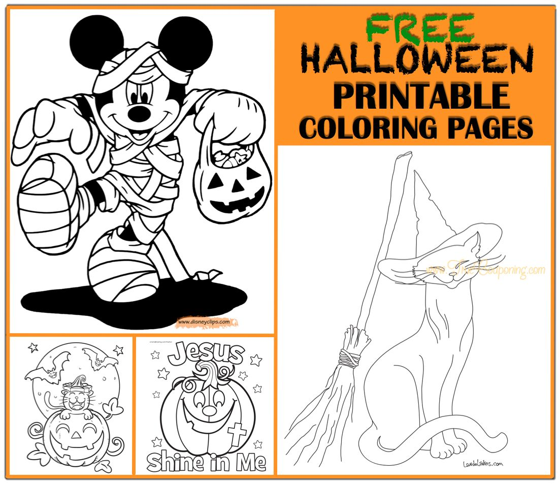 13 halloween coloring pages for kids - Print Color Craft | 957x1103
