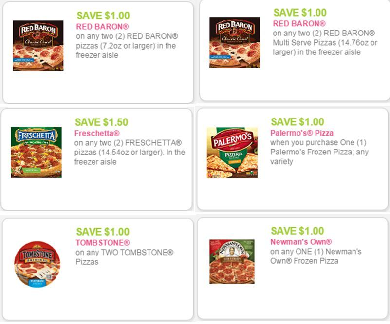 Frozen Pizza Coupons