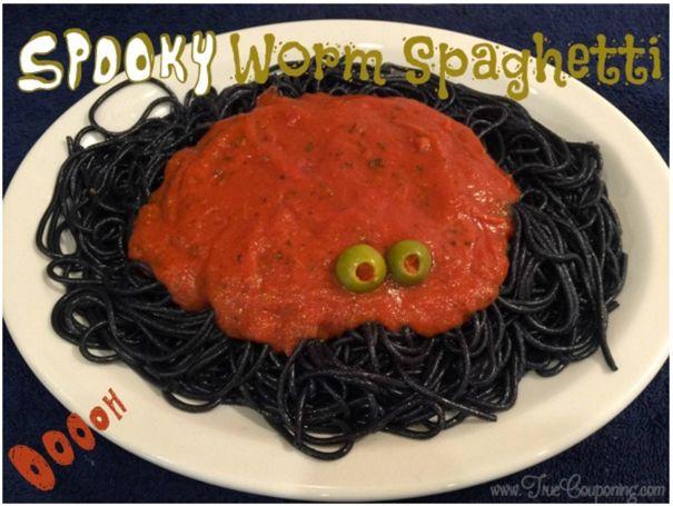 Spooky Worm Spaghetti