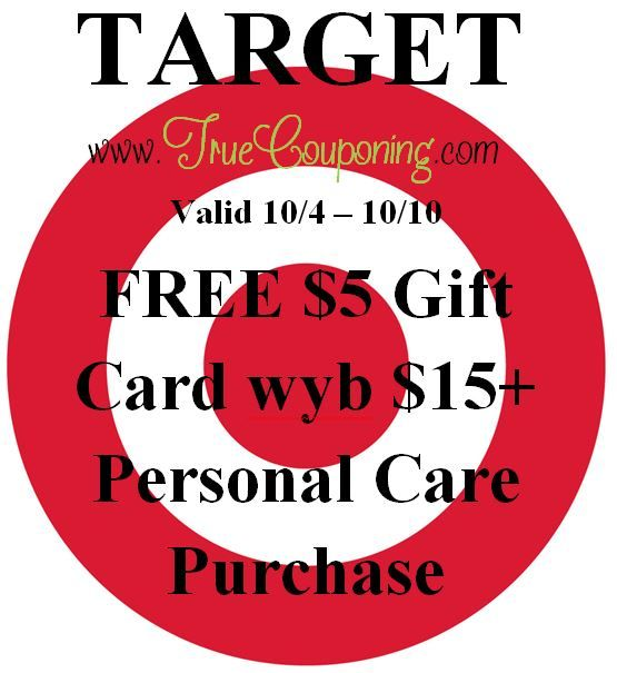 Special Coupons in 10/4 Sunday Newspaper: Target FREE $5 Gift Card wyb $15+ Personal Care Purchase!