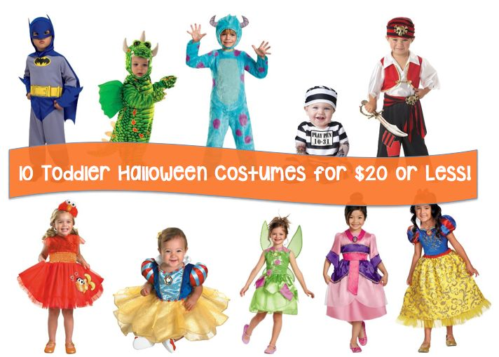 10 Toddler Halloween Costumes for $20 or Less!