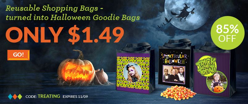 York Photo Offer for New Customers ~ Halloween Tote Bag $5.48 Including Shipping!