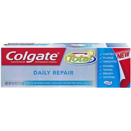 Colgate Total Daily Repair Anticavity Fluoride and Antigingivitis Toothpaste, 4.0 oz