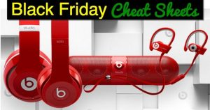 Black Friday Comparison Cheat Sheet for ALL Headphones & Speakers (Beats) {FREE Download}