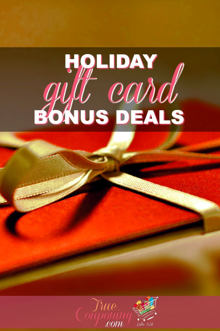 Check out these great Gift Card Deals going on now at your favorite Restaurants and Stores! These Bonus Deals will help stretch your gift-giving budget!