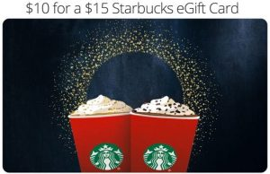 Starbucks Groupon for EVERYONE! Pay $10 for $15 eGift Card!! {HURRY! Ends 12/31!}