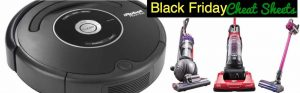 Black Friday Comparison Cheat Sheet for Vacuums such as Roomba, Shark & Dyson {FREE Download}