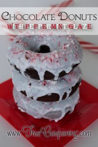 Chocolate Donuts with Peppermint Glaze Recipe
