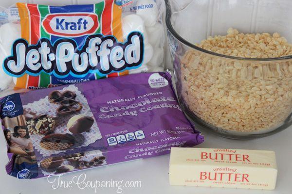 Chocolate Covered Krispy Treat Bites Ingredients