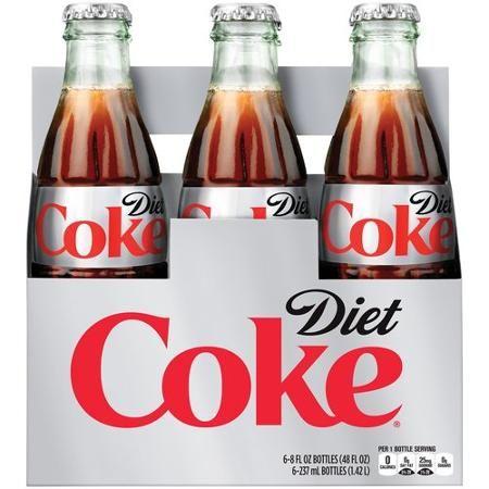 Diet Coke Glass Bottle 6 pk