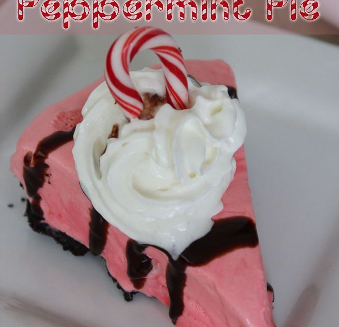 Easy and Festive Peppermint Pie