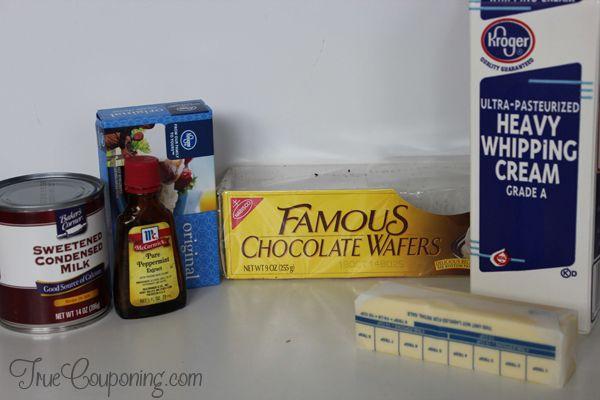Frozen Peppermint Pie Ingredients