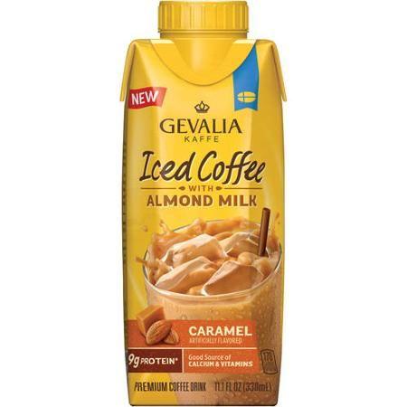 Gevalia Kaffe Caramel Iced Coffee with Almond Milk, 11.1 fl oz