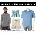 Kohl's: Over 1000 Items Under $10!