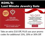 Kohl's Last Minute Jewelry Sale 60% Off Before Discounts & Kohl's Cash!  ~Ends 12/24