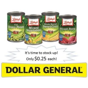 Dollar General: Libby's Canned Vegetables $0.25 Each! ~Ends 12/19!